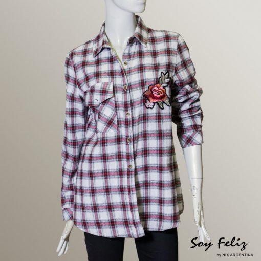 Camisa Cuadrille con Parche flor